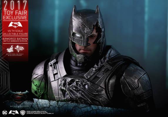 Hot Toys MMS417 Battle Damaged Version Armored Batman v Superman Dawn of Justice