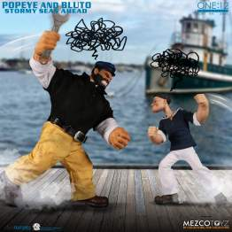 Mezco - ONE:12 Collective Popeye & Bluto: Stormy Seas Ahead Deluxe Set