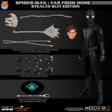 Mezco - One 12 Collective PX Spider-man Stealth Suit PREVIEWS Exclusive